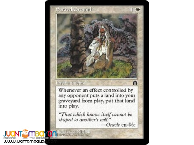 Sacred Ground (Magic the Gathering Trading Card Game)