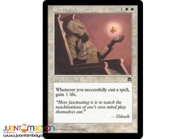Contemplation (Magic the Gathering Trading Card Game)