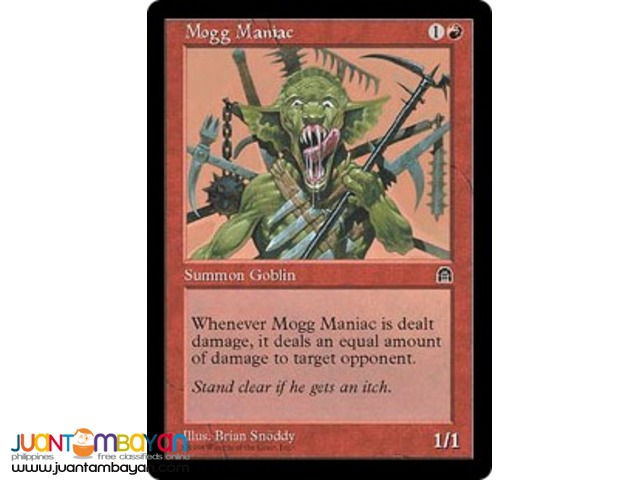 Mogg Maniac (Magic the Gathering Trading Card Game)