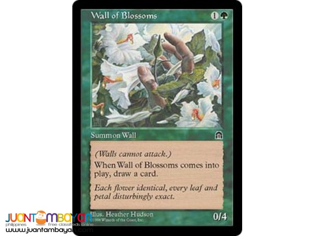 Wall of Blossoms (Magic the Gathering Trading Card Game)