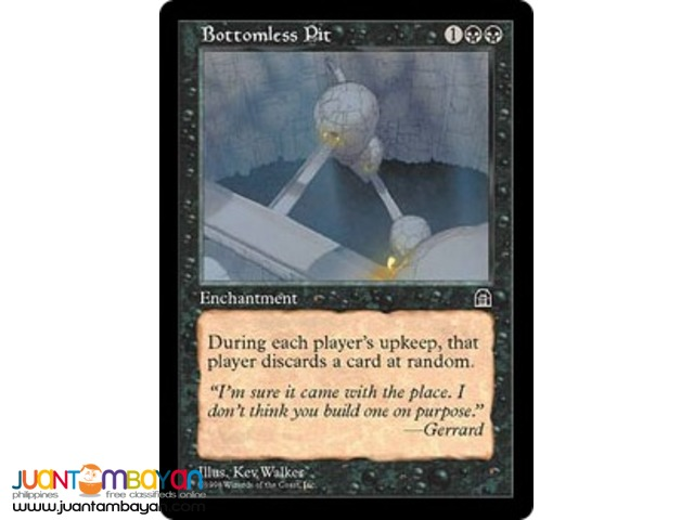 Bottomless Pit (Magic the Gathering Trading Card Game)