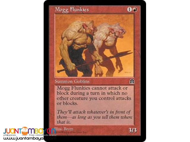 Mogg Flunkies (Magic the Gathering Trading Card Game)
