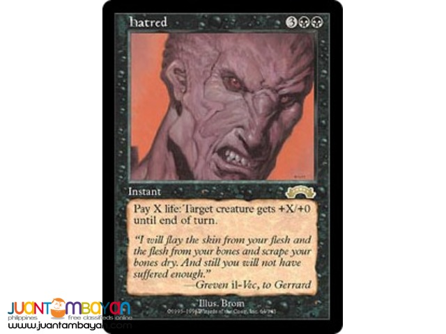 Hatred (Magic the Gathering Trading Card Game)