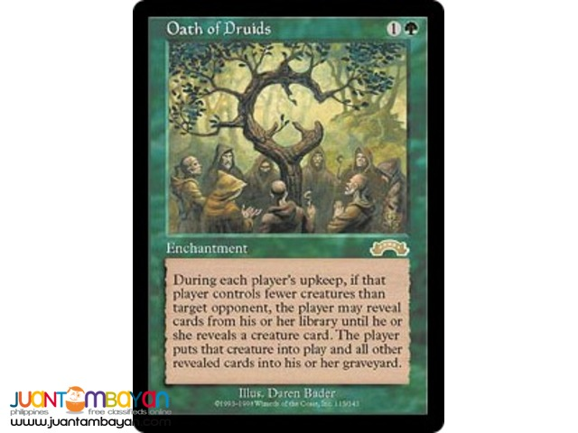 Oath of Druids (Magic the Gathering Trading Card Game)