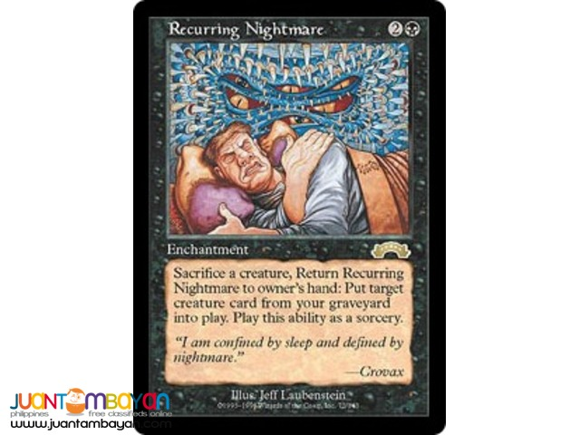 Recurring Nightmare (Magic the Gathering Trading Card Game)
