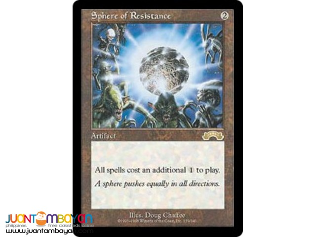 Sphere of Resistance (Magic the Gathering Trading Card Game)