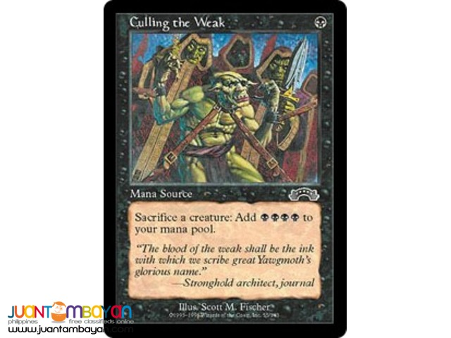 Culling the Weak (Magic the Gathering Trading Card Game)