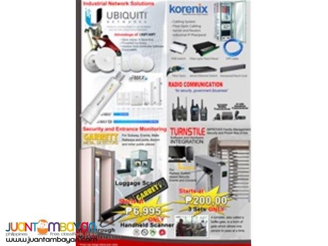 CCTV, Biometrics, Firealarms, Access Control, etc..