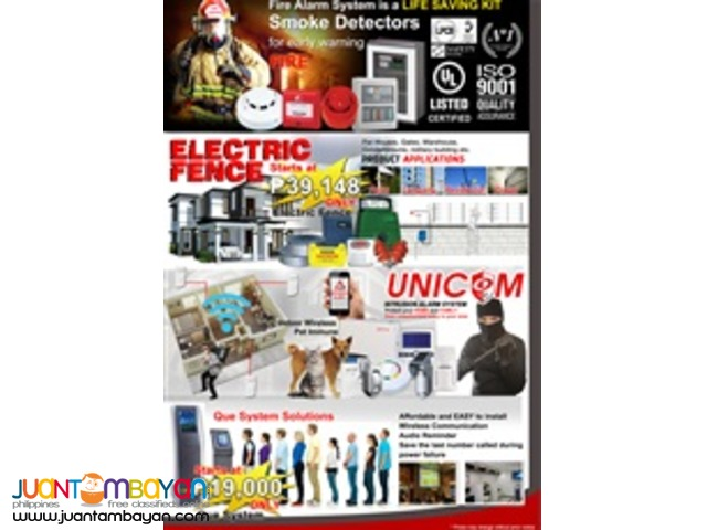 CCTV, Biometrics, Firealarms, Access Control, etc..