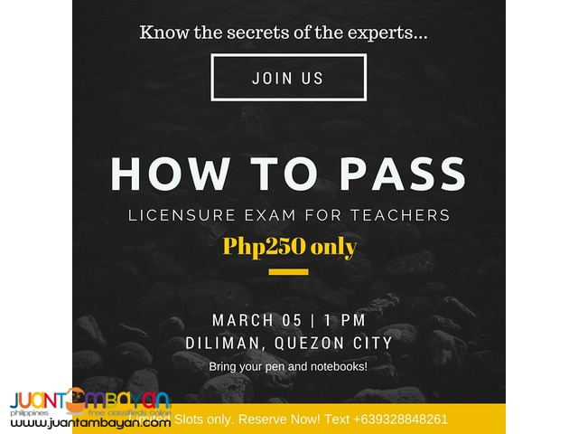 PASS THE LET (Licensure Exam for Teachers)