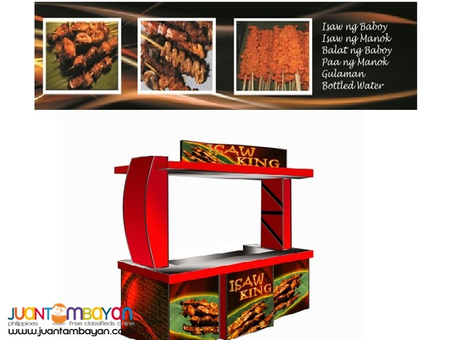 franchise business foodcart concept burger88,isaw king,rice square,