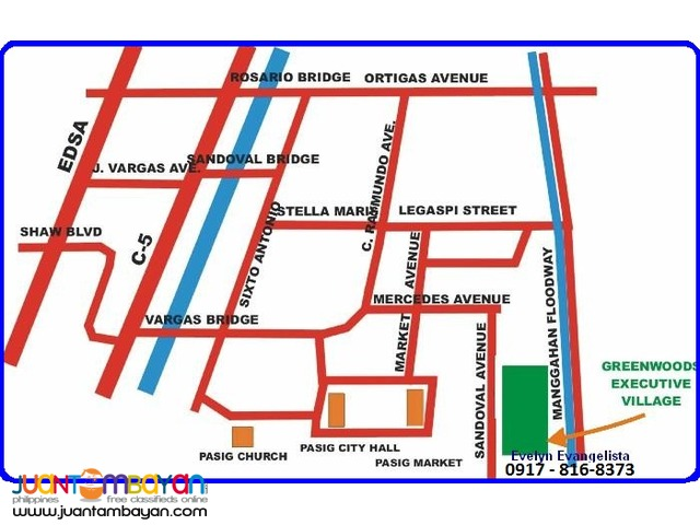 Greenwoods Phase 2K1 Sandoval Ave. Pasig City @ P 10,300/sqm.