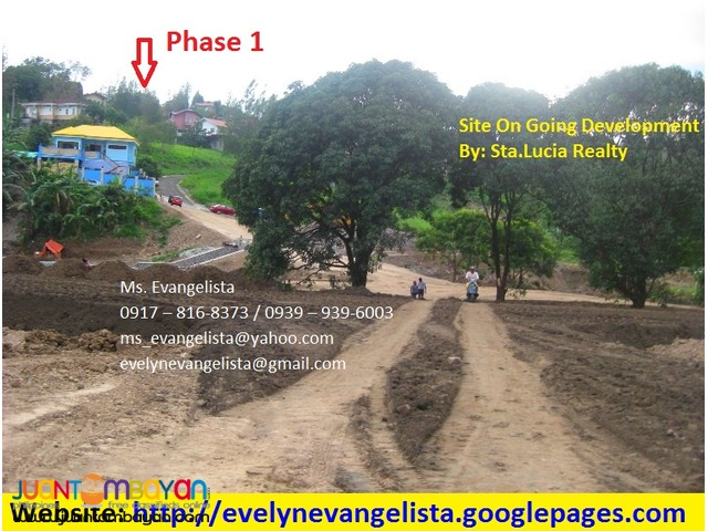 Summer Hills Phase 4 Olalia Road Antipolo City @ P 6,500/sqm.