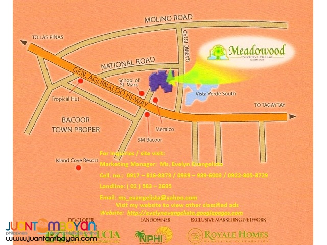 Meadowood Phase 3B Bacoor Cavite @ P 8,200/sqm.