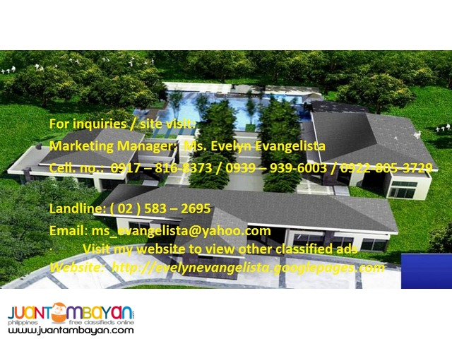 The Mango Grove Sto. Tomas Batangas @ P 4,750/sqm.