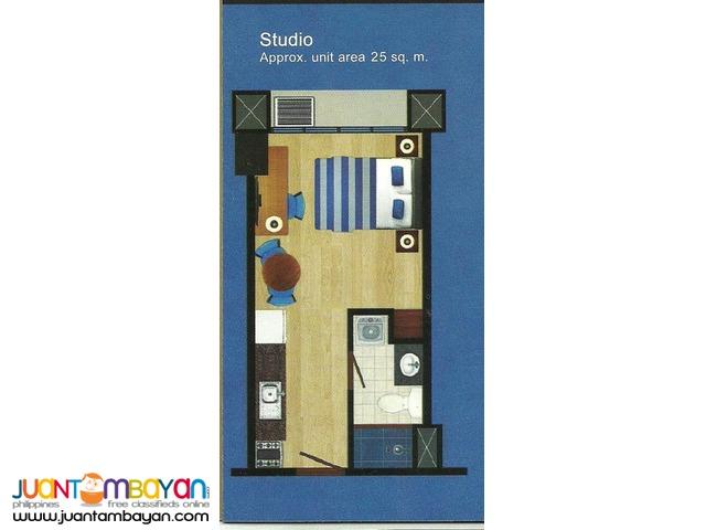 Condominium back of Sta. Lucia Mall Santorini Studio Type