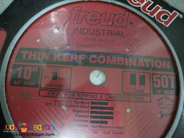Freud LU83R010 10-inch 50-tooth ATB Thin Kerf Combination Saw Blade