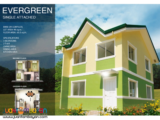 Alta Tierra in GMA Cavite, Carnation Model thru Pag-ibig Financing