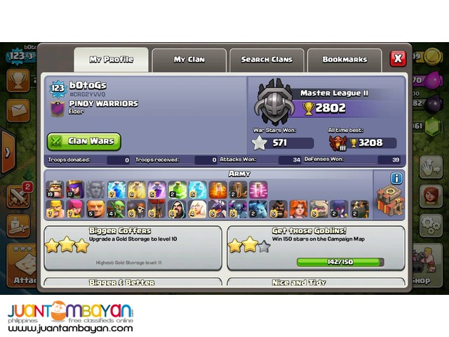 Clash of Clans TH10 Level 123