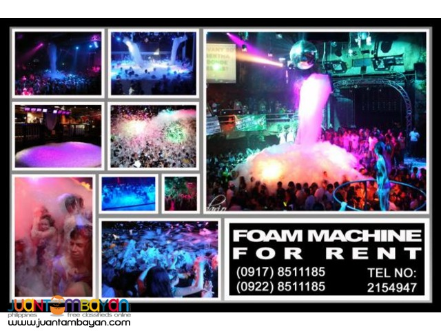 Foam Machine Rental Hire Manila Philippines