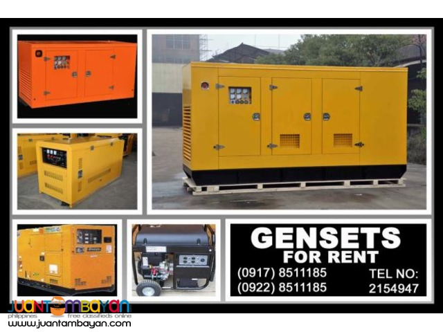 Gensets Rental Hire Manila Philippines