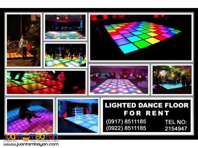 Lighted Dance Floor Rental Hire Manila Philippines