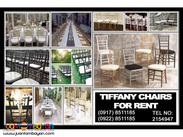 Tiffany Chairs Rental Hire Manila Philippines