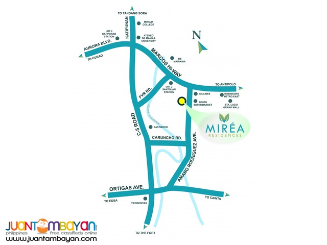 Pasig Condo near Eastwood Mirea Residences Php16k/month!