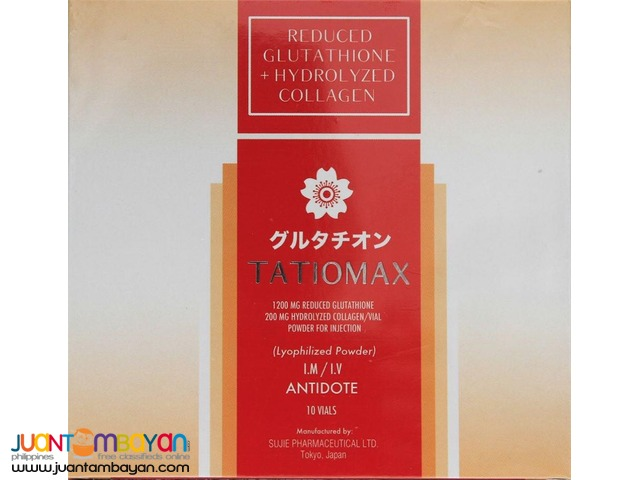TATIOMAX 1200mg Injectable Glutathione plus Collagen