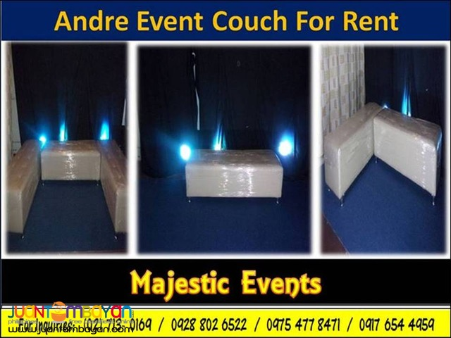 Andre 3-Seater Event Couch for Rent
