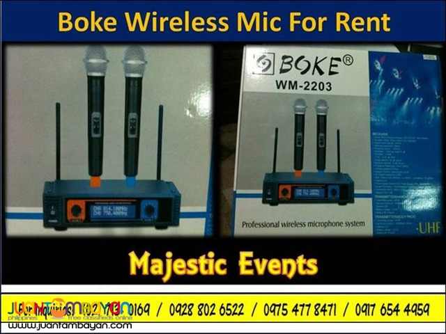 Wireless Mic for Rent