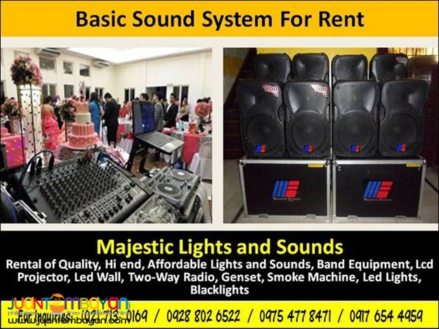 Basic Sound System for Rent
