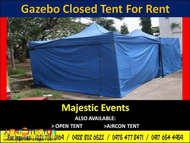 Gazebo Closed Tent for Rent