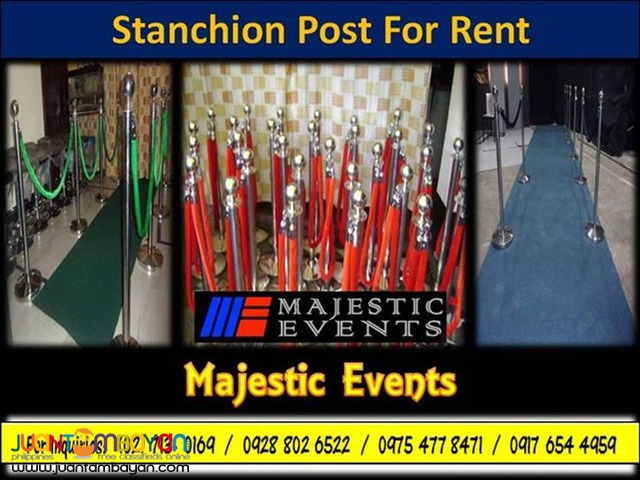 Stanchion Posts for Rent