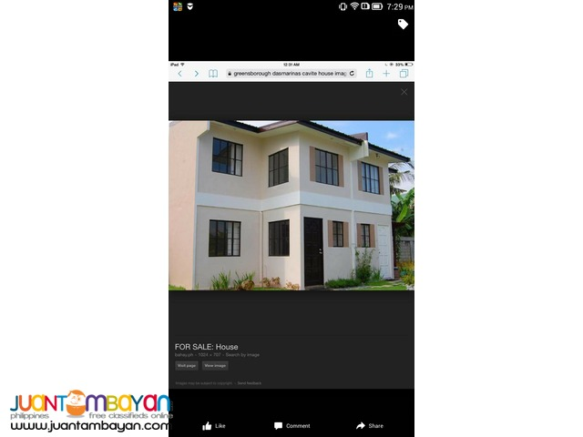 Townhouse in Green Borough subd. Sabang, Dasmarinas, Cavite