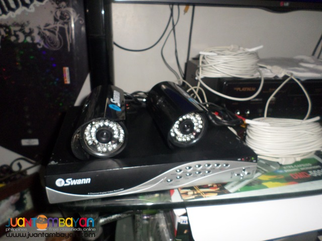 dvr swann 4channel 220v and 2 swann camera 2nd hand