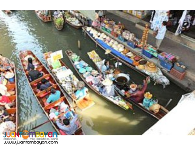 Bangkok tour package, Damneon Saduak Floating Market with Rose Garden