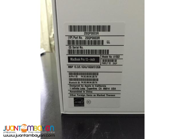2015 Apple MacBook Pro 13