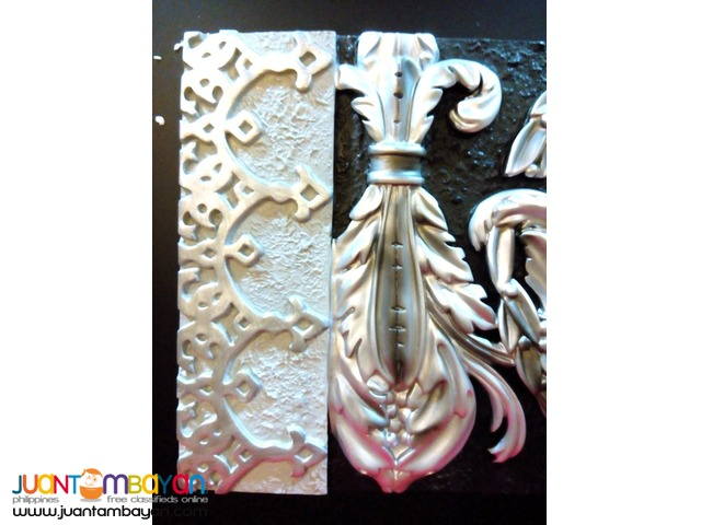 Wall Decor Art Embossed 3D frame European