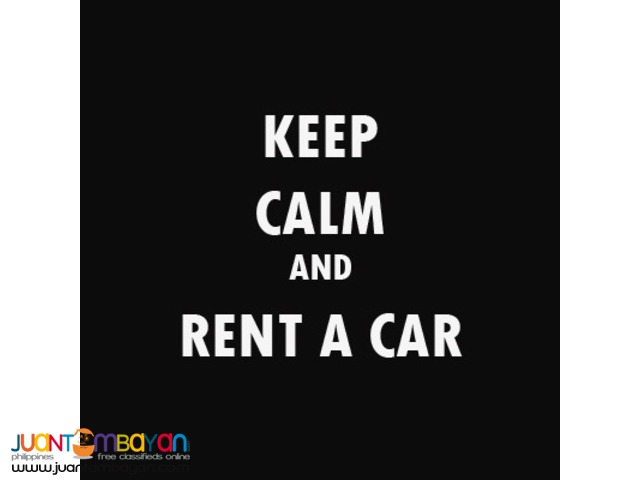 Rent a car manila! Cheap rental for vehicles! Very affordable!
