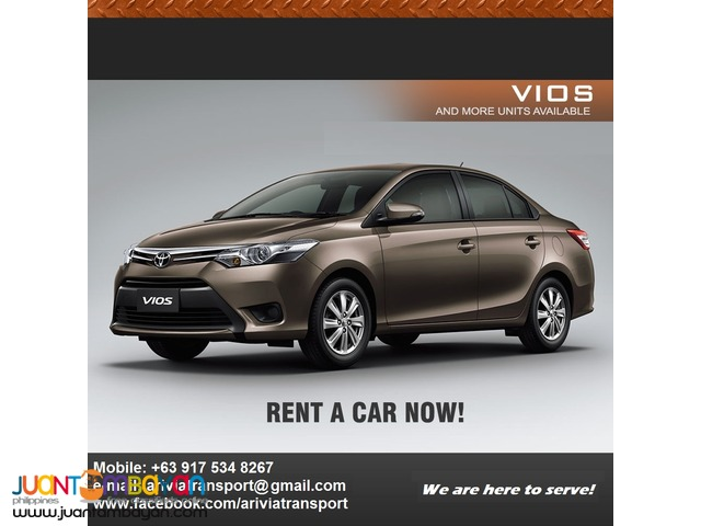 Car for rent in Manila! Cheapest rate in the Metro!