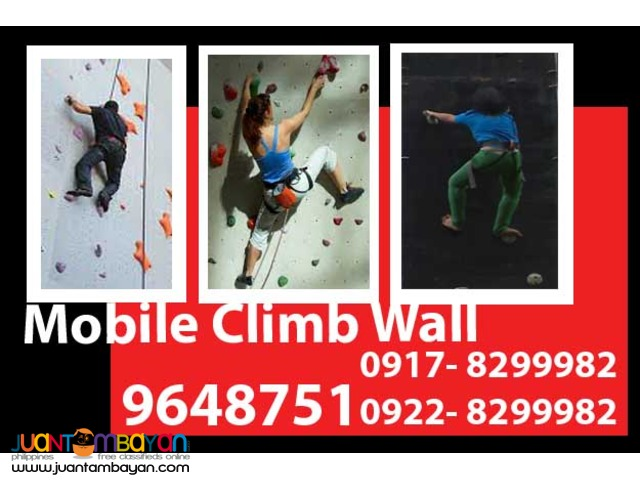 Mobile Climb Wall Rental Hire Manila Philippines