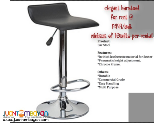 20 barstool with 3 free cocktail tables for rent