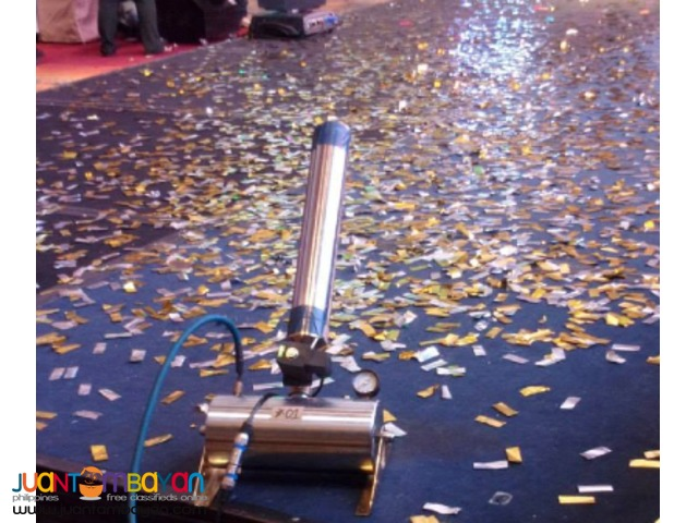 Confetti machine with 4 blasts