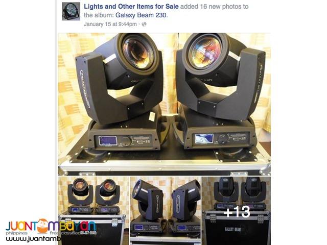 Beam Lights for rent package of 2