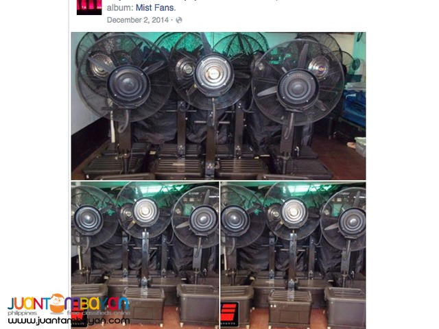 Misting Fan Package of 12 for rent