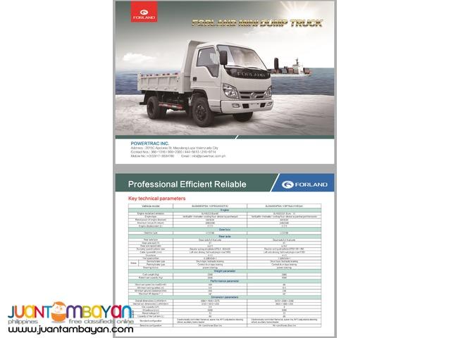 Forland 4 Wheeler Mini Dump Truck 2m³ Capacity