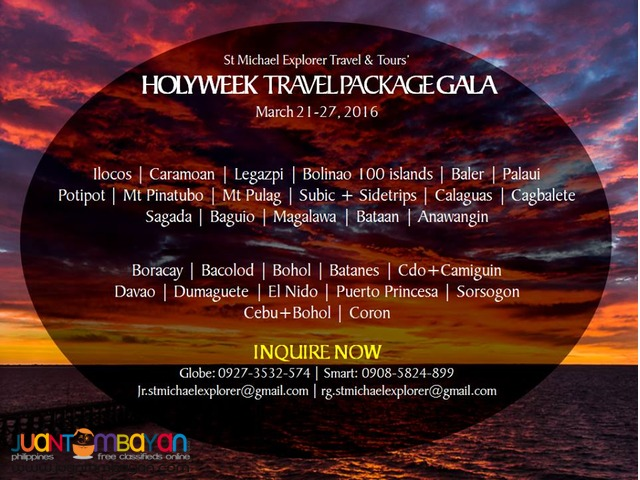 HOLY WEEK TOUR PACKAGES