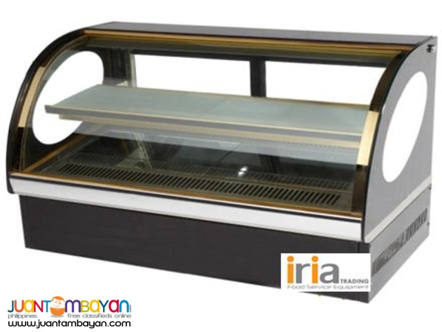 CAKE CHILLER SHOWCASE (Countertop, Curve glass) for SALE!!!