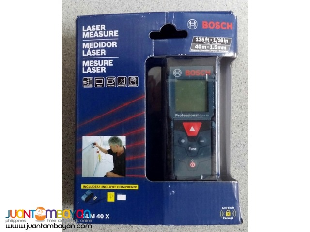 Bosch GLM 40 X Laser Distance Measure with 135- feet Range